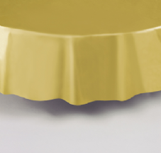 "Gold Round Tablecover 84""/ 213cm Diameter"
